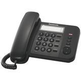 Телефон PANASONIC KX-TS2352RUB, черный, память 3 номера, повторный набор, тональный/<wbr/>импульсный режим, индикатор вызова
