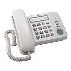 Телефон PANASONIC KX-TS2352RUW, белый, память 3 номера, повторный набор, тональный/<wbr/>импульсный режим, индикатор вызова