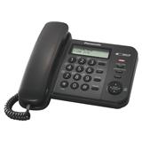 Телефон PANASONIC KX-TS2356RUB, черный, память 50 номеров, АОН, ЖК-дисплей с часами, тональный/<wbr/>импульсный режим