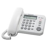 Телефон PANASONIC KX-TS2356RUW, белый, память 50 номеров, АОН, ЖК дисплей с часами, тональный/<wbr/>импульсный режим