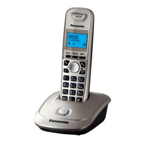 Радиотелефон PANASONIC KX-TG2511RUN, память 50 номеров, АОН, повтор, спикерфон, полифония, радиус 10-100 м, цвет платиновый
