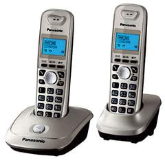 Радиотелефон PANASONIC KX-TG2512 RUN+доп. трубка, память 50 ном., АОН, повтор, 10-100 м, «платина»