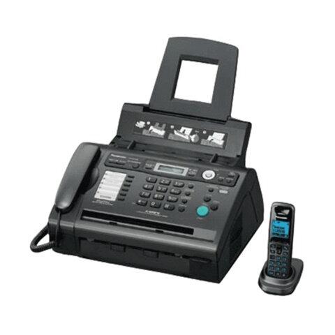 Факс лазерный PANASONIC KX-FLC418 RU, обычная бумага 80 г/<wbr/>м<sup>2</sup>, А4, АОН, автоответчик DECT