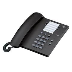 Телефон GIGASET DA 100, память на 14 номеров, повтор номера, тональный/<wbr/>импульсный набор, цвет антрацитовый