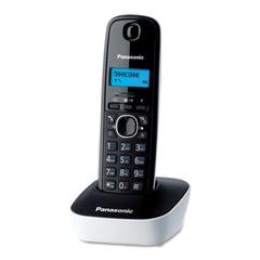 Радиотелефон PANASONIC KX-TG1611RUW, память 50 номеров, АОН, повтор, часы/<wbr/>будильник, радиус 10-100 м, цвет белый