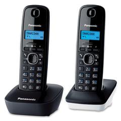 Радиотелефон PANASONIC KX-TG1612RU1 + дополнительная трубка, память 50 номеров, АОН, будильник, радиус 10 — 100 м, цвет серый