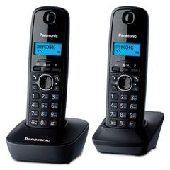 Радиотелефон PANASONIC KX-TG1612RUH + дополнительная трубка, память 50 номеров, АОН, будильник, радиус 10 — 100 м, цвет серый