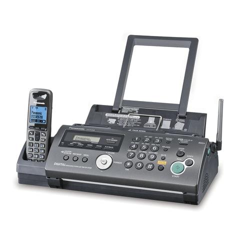Факс PANASONIC KX-FC268RUT, обычная бумага 80 г/<wbr/>м<sup>2</sup>, А4, АОН, автоответчик, DECT-трубка