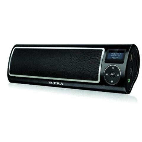 Аудиосистема портативная SUPRA PAS-6255, мощность 5 Вт, FM-тюнер, МР3, WMA, USB/<wbr/>SD/<wbr/>AUX, будильник, диктофон, черная