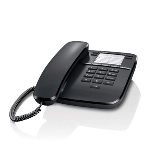 Телефон GIGASET DA310, память 4 номера, повтор номера, тональный/<wbr/>импульсный набор, цвет черный