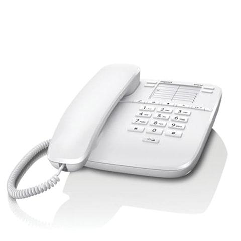 Телефон GIGASET DA310, память на 4 номера, повтор номера, тональный/<wbr/>импульсный набор, цвет белый