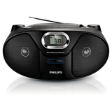 ��������� PHILIPS AZ385/<wbr/>12, � CD/<wbr/>MP3-�������, �������� �������� 2 ��, ��-�������, USB, FM-�����, ������