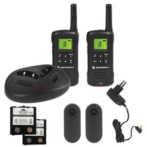 Радиостанция MOTOROLA T60, до 8 км, шумоподавление, 8 каналов, зарядное устройство в комплекте, комплект 2 шт.
