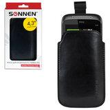 Чехол для телефона SONNEN, кожзаменитель, M, 130×70×10 мм, универсальный, черный