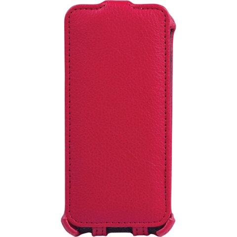 Чехол-обложка для телефона iPhone 5/<wbr/>5S SONNEN, кожзаменитель, вертикальный, красный