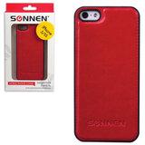 Защитная панель для iPhone 5/<wbr/>5S SONNEN, пластик/<wbr/>кожзаменитель, красная
