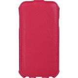 Чехол-обложка для телефона Samsung Galaxy S4 SONNEN, кожзаменитель, вертикальный, красный