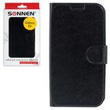 Чехол-обложка для телефона Samsung Galaxy S3 SONNEN, кожзаменитель, горизонтальная, черный