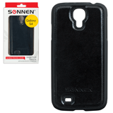Защитная панель для Samsung Galaxy S4 SONNEN, пластик/<wbr/>кожзаменитель, черная