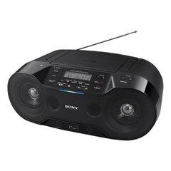 Магнитола SONY ZS-RS70BT, CD-RW, CD-R, MP3, выходная мощность 4,6 Вт, USB, FM/<wbr/>AM-тюнер, Bluetooth, NFC, ЖК-дисплей, цвет чёрный