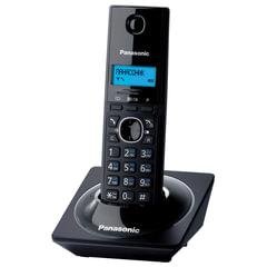 Радиотелефон PANASONIC KX-TG1711RUB, память на 50 номеров, АОН, повтор, часы/<wbr/>будильник (радиус 10-100 м), цвет чёрный