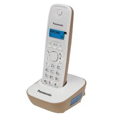 Радиотелефон PANASONIC KX-TG1611RUJ, память на 50 номеров, АОН, повторный набор, часы/<wbr/>будильник, радиус 10-100 м, бежевый