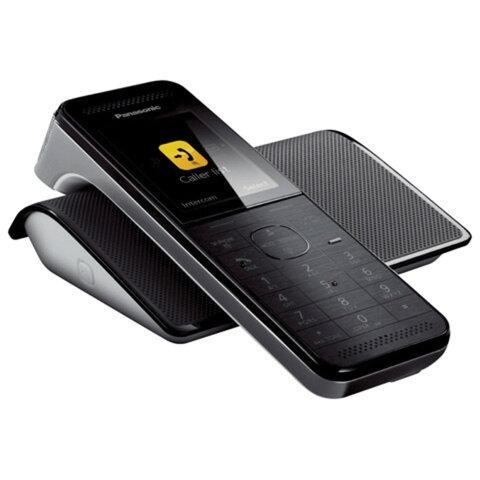 Радиотелефон PANASONIC KX-PRW120W, слот SD, Wi-Fi, память 50 номеров, автоответчик, спикерфон, полифония, «титан»