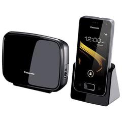 Радиотелефон PANASONIC KX-PRX120W, Wi-Fi, слот SD, камера 0,3 Мп, автоответчик, спикерфон, полифония, цвет титановый