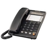 Телефон PANASONIC KX-TS2365RUB, память на 30 номеров, ЖК-дисплей с часами, автодозвон, спикерфон, черный