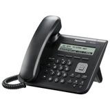 Телефон IP PANASONIC KX-UT123RU-B, память на 500 номеров, SIP, АОН, спикерфон, цвет черный