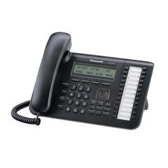 Телефон IP PANASONIC KX-NT543RU-B, повторный набор, часы/<wbr/>календарь, спикерфон, цвет черный