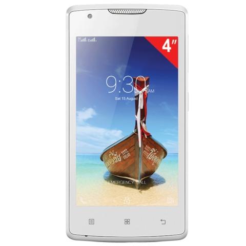 "Смартфон LENOVO A1000, 4"", 2 SIM, 3G, 0,3/<wbr/>5 Мп, 8 Гб, microSD, белый, пластик"