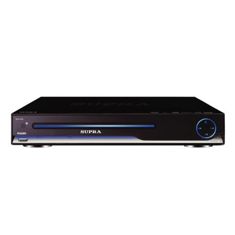 Плеер DVD SUPRA DVS-102X DVD, MP3, MP4(DivX), USB(A), RGB, SCART, S-Video, пульт ДУ, черный