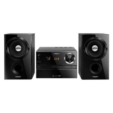Музыкальный центр PHILIPS MCM1350/<wbr/>12, CD, CD-R/<wbr/>RW, MP3-CD, выходная мощность 30 Вт, USB, AUX, FM, черный