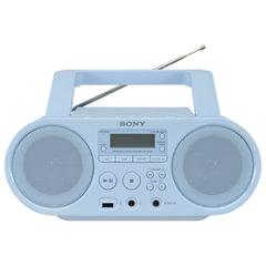 Магнитола SONY ZS-PS50L, CD, MP3, WMA, CD-R/<wbr/>RW, USB, AM/<wbr/>FM-тюнер, выходная мощность 4 Вт, голубая