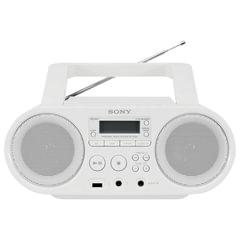Магнитола SONY ZS-PS50W, CD, MP3, WMA, CD-R/<wbr/>RW, USB, AM/<wbr/>FM-тюнер, выходная мощность 4 Вт, белый