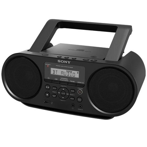 Магнитола SONY ZS-RS60BT, CD, MP3, WMA, USB, Bluetooth, AM/FM-тюнер, выходная мощность 4 Вт, черный