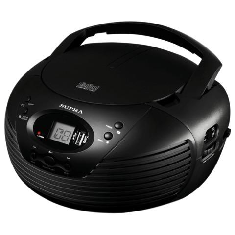 Магнитола SUPRA BB-CD120U, CD, MP3, USB, AM/<wbr/>FM-тюнер, выходная мощность 2,4 Вт, цвет черный