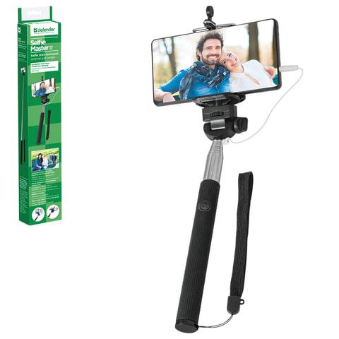 Штатив для селфи DEFENDER «Selfie Master SM-02», проводной, зажим 50-90 мм, длина штатива 20-98 см