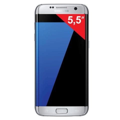"Смартфон SAMSUNG Galaxy S7 edge, 2 SIM, 5,5"", 4G (LTE), 5/<wbr/>12 Мп, 32 Гб, microSD, титан, металл и стекло"