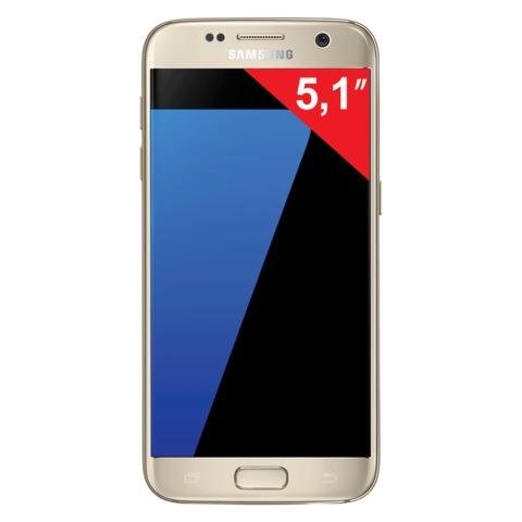 "Смартфон SAMSUNG Galaxy S7, 2 SIM, 5,1"", 4G (LTE), 5/<wbr/>12 Мп, 32 Гб, microSD, платина, металл и 3D-стекло"