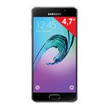 "Смартфон SAMSUNG Galaxy A3, 2 SIM, 4,7"", 4G (LTE), 5/<wbr/>8 Мп, 16 Гб, microSD, черный, сталь и стекло"
