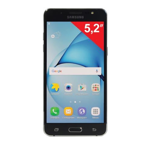 "Смартфон SAMSUNG Galaxy J5, 2SIM, 5,2"", 4G(LTE), 5/<wbr/>13Мп, 16Гб, microSD, черный, пласти"