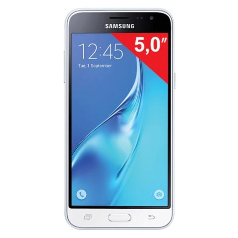 "Смартфон SAMSUNG Galaxy J3, 2 SIM, 5,0"", 4G (LTE), 5/<wbr/>13 Мп, 8 Гб, microSD, белый, пластикик"