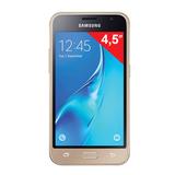 """Смартфон SAMSUNG Galaxy J1, 2 SIM, 4,5"""", 4G (LTE), 2/<wbr/>5 Мп, 8 Гб, microSD, золотой, пласти"""