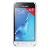 "Смартфон SAMSUNG Galaxy J1, 2 SIM, 4,5"", 4G (LTE), 2/<wbr/>5 Мп, 8 Гб, microSD, белый, пластик"