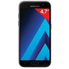 "Смартфон SAMSUNG Galaxy A3, 2 SIM, 4,7"", 4G (LTE), 8/<wbr/>13 Мп, 16 ГБ, microSD, черный, сталь и стекло"