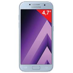 "Смартфон SAMSUNG Galaxy A3, 2 SIM, 4,7"", 4G (LTE), 8/<wbr/>13 Мп, 16 ГБ, microSD, голубой, сталь и стекло"