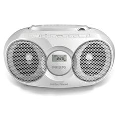 Магнитола PHILIPS AZ318W/<wbr/>12, с CD/<wbr/>MP3-плеером, USB, mini jack 3,5 мм, выходная мощность 2 Вт, белая