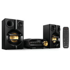 Музыкальный центр PHILIPS FX10/<wbr/>12, MP3-CD, CD-R/<wbr/>RW, FM-тюнер, mini jack 3,5 мм, 230 Вт, Bluetooth, черный